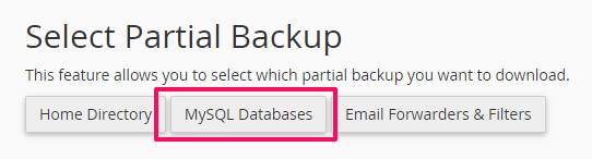 klik-mysql-databases-backup-wordpress-cpanel